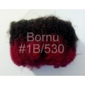 #1B / 530 - off black / red burgundy