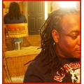 Fix a few locs w/ afro locking human hair