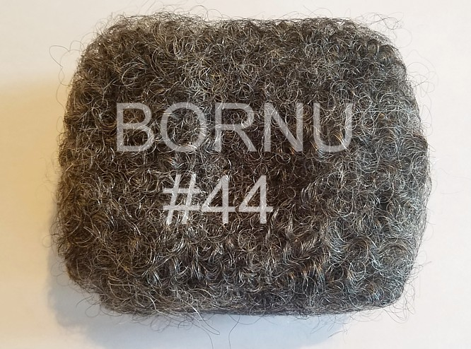 dark gray silver mixed afro locking human hair bornu locs